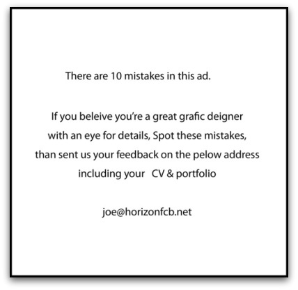 Graphic designer Recruitment Ad