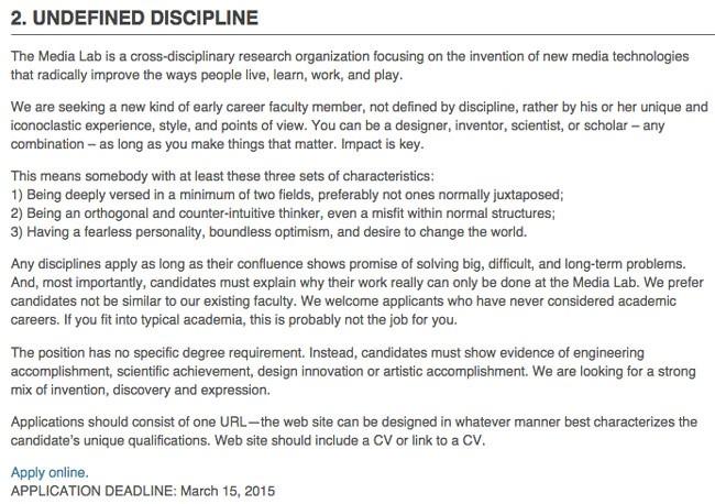 MIT Recruitment Ad