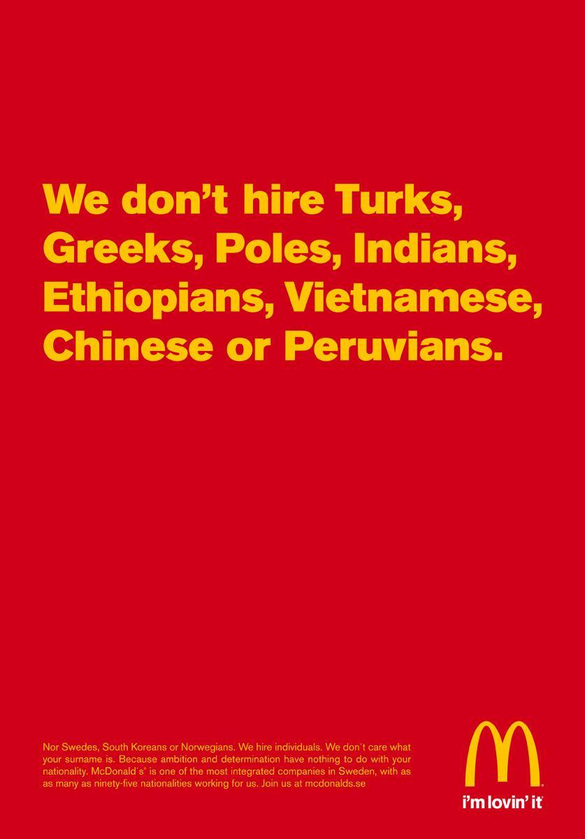 McDonalds Recruitment Ad 2