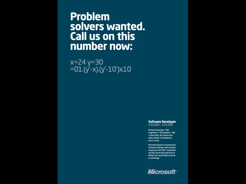Microsoft Recruitment Ad