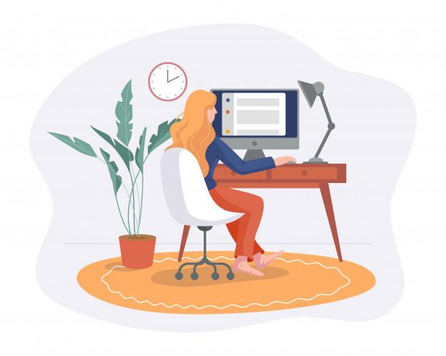 Remote work concept
