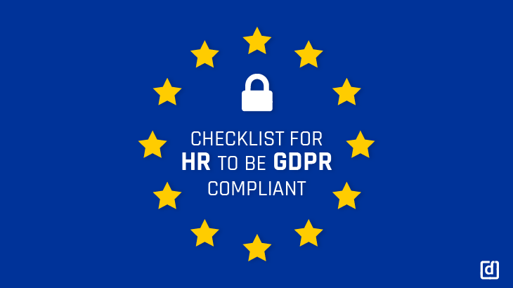 Checklist for HR's to be GDPR Compliant