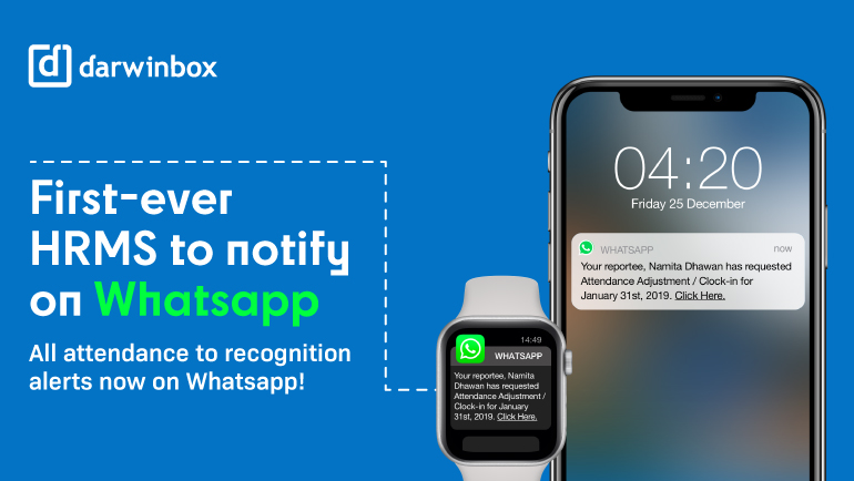 Darwinbox Becomes The First-Ever HR Tech Platform To Integrate With WhatsApp For Business.
